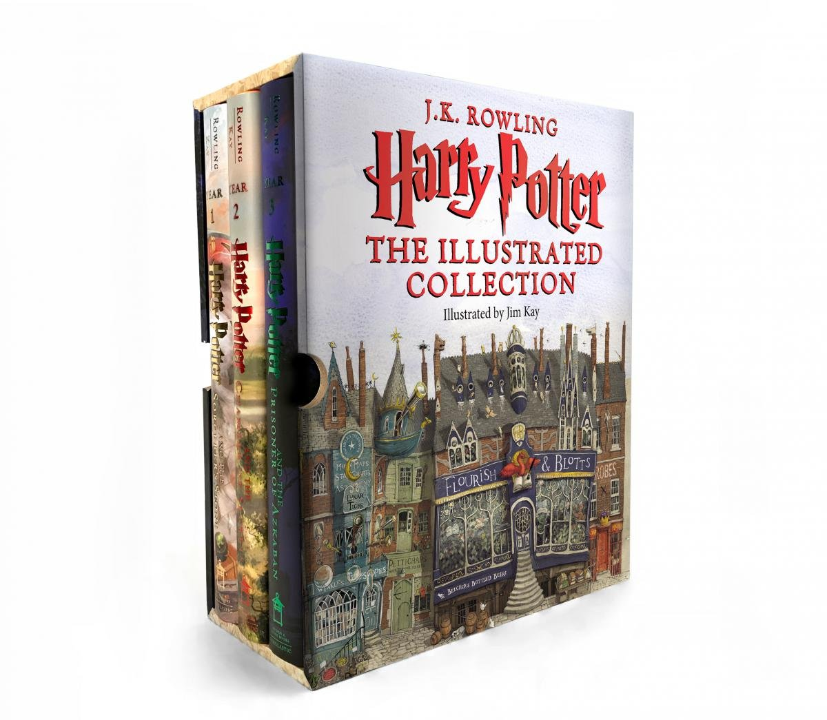 Harry Potter: The Illustrated Collection (Books 1-3 Boxed Set) by Arthur A. Levine Books (Image #1)