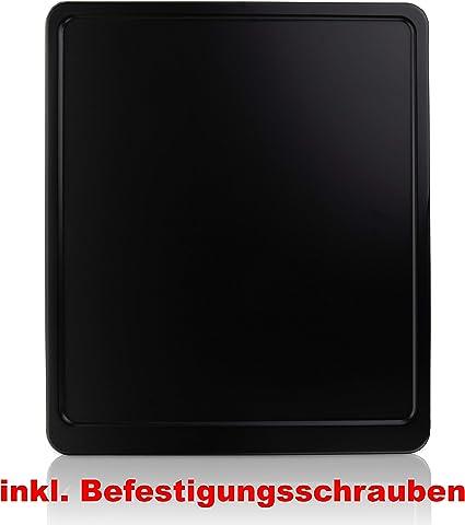 BEFESTIGUNGSSCHRAUBEN Neu Kennzeichenverst/ärker Motorrad Kennzeichenhalter Carbon Aluminium 180x200 inkl