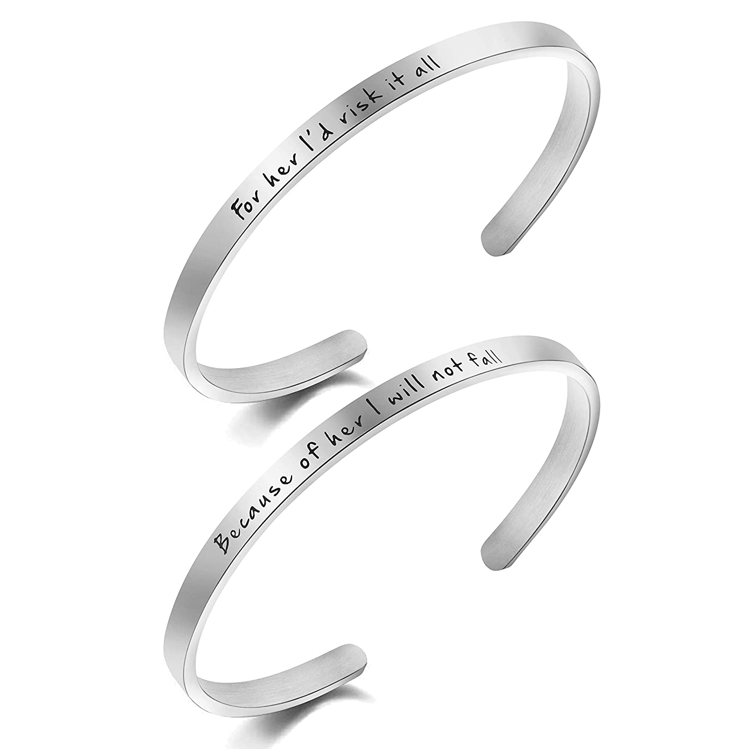 Awegift Mother Daughter Jewelry Set for Her Id Risk it All Because of Her I Will not Fall