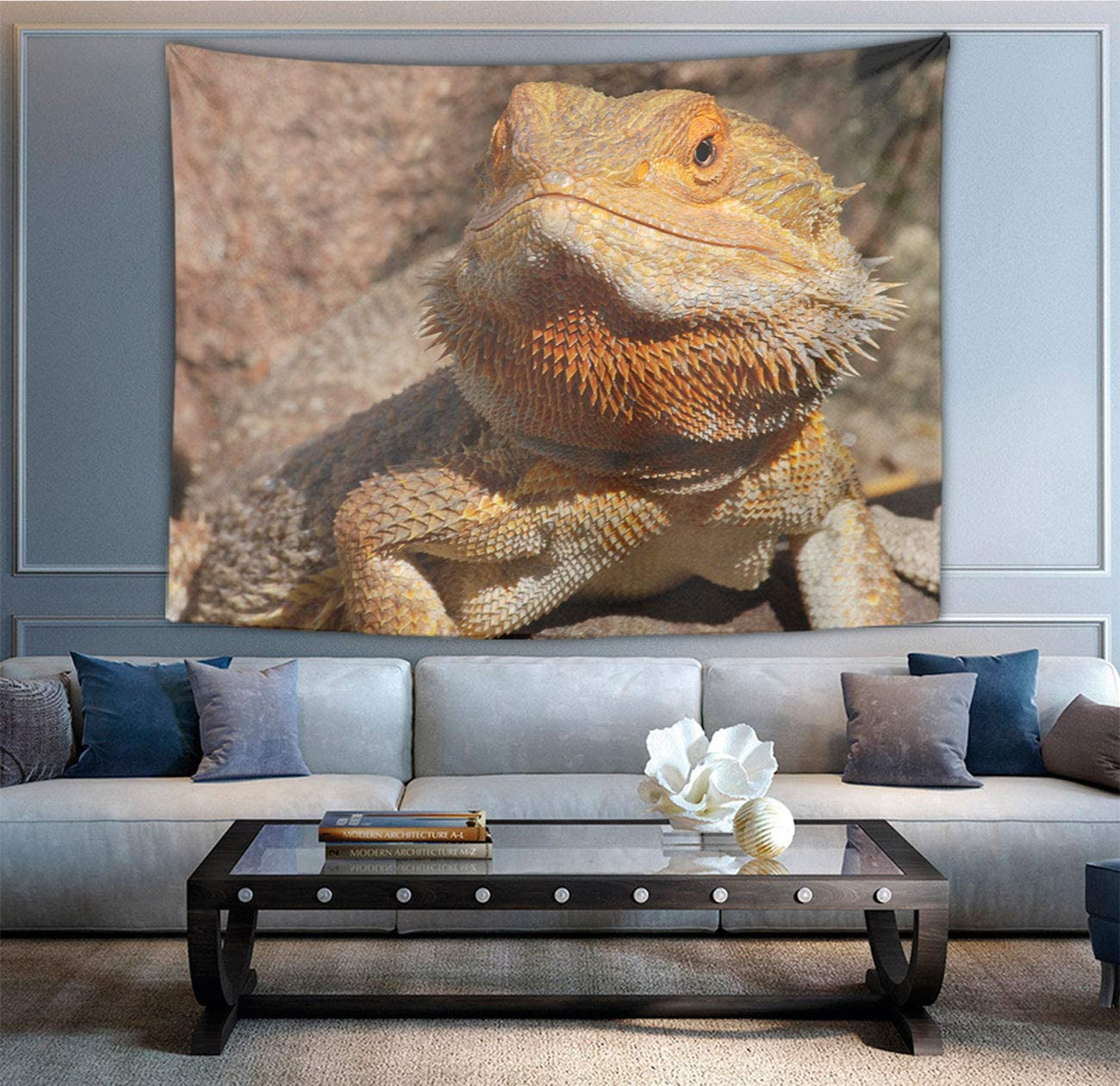 NiYoung Hippie Hippy Wall Tapestry Bearded Dragon Lizard Ombre Tapestry Wall Hanging Throw Tapestries for Bedroom Dorm Accessories Mandala Yoga Mat Rugs Wall Tapestries
