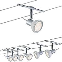 Paulmann Set SheelaLED kit completo de cables con 6 focos Sheela, 24 W, Cromo Mate…