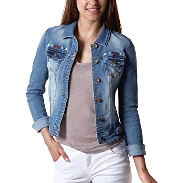 Amazon veste jean femme