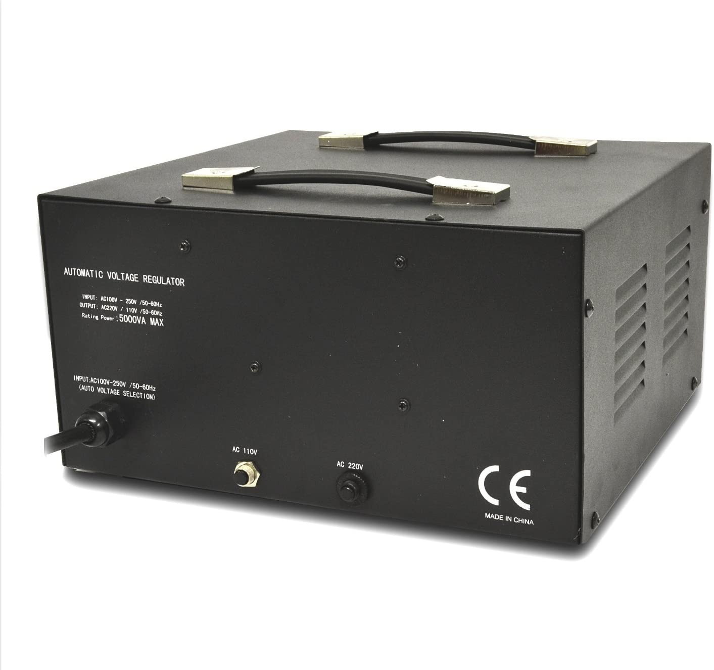 110//120//220//240 Volt Fully Grounded Cord Step Up//Down Model: LR-3000UP Universal Output Sockets LiteFuze 3000 Watt Voltage Converter Transformer Heavy Duty Regulator Meter