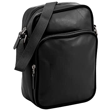 9e5aef1229 NIKE Heritage AD Small Items II Shoulder Man Bag - Black  Amazon.co.uk   Luggage