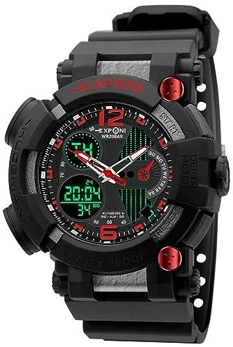 Reloj deportivo para hombre Wrisrwatch resistente al agua movimiento japonés digital exterior multifuncional reloj militar con