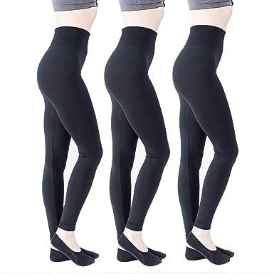 3ec4cf9fd58e59 5050 Ultra Soft Seamless Solid High Waist Leggings for Women at ...