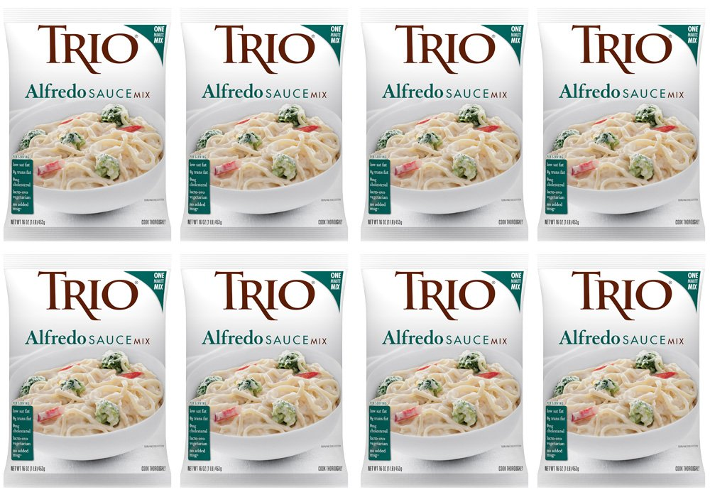 Amazon.com : Trio Alfredo Sauce Mix, 16 Ounce (Pack of 8) : Grocery & Gourmet Food
