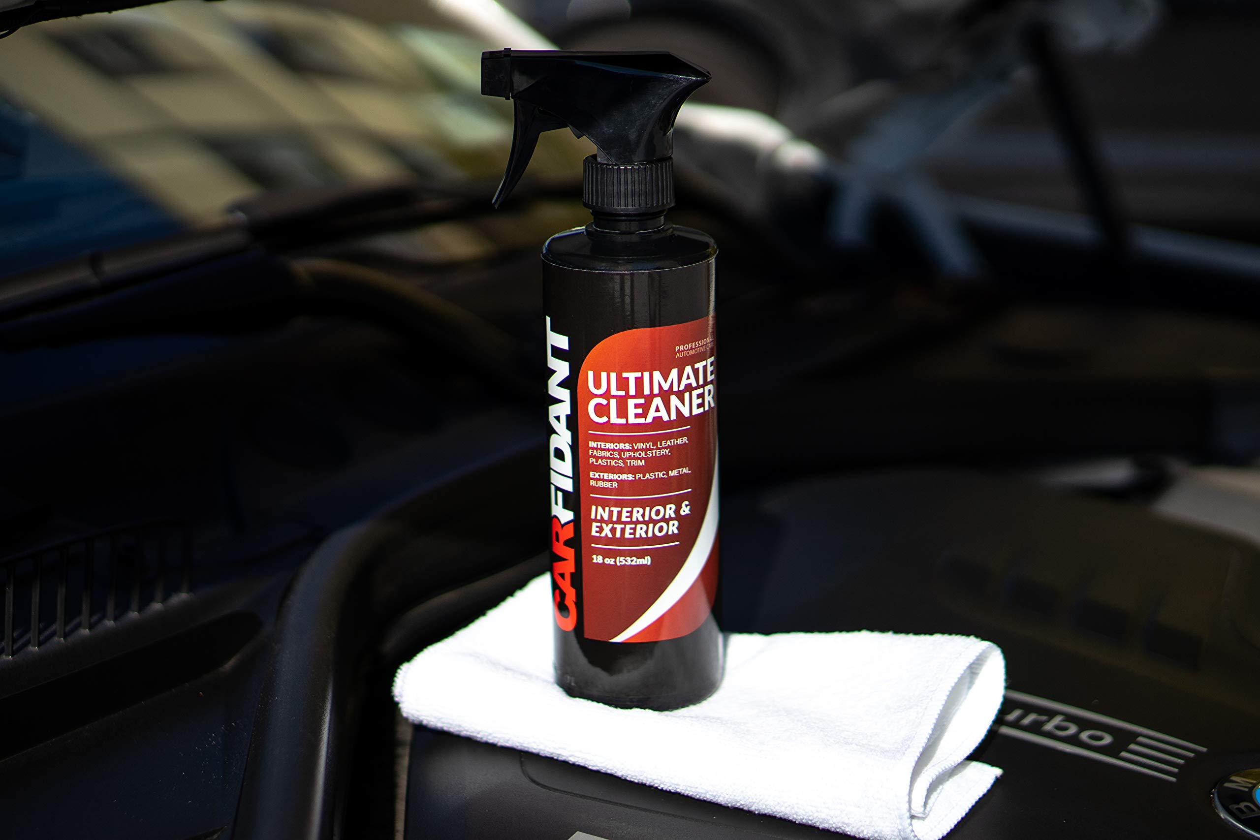 Carfidant Ultimate Car Interior Cleaner - Automotive Interior & Exterior Cleaner All Purpose Cleaner for Car Carpet Upholstery Leather Vinyl Cloth Plastic Seats Trim Engine Mats - Car Cleaning Kit by Carfidant (Image #8)