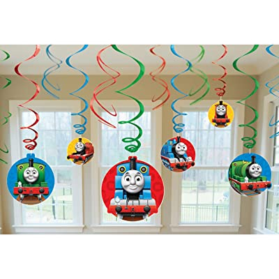amscan Thomas The Tank Birthday Party Swirl Decoration Value Pack, 10.3 x 9.5, Multi: Toys & Games