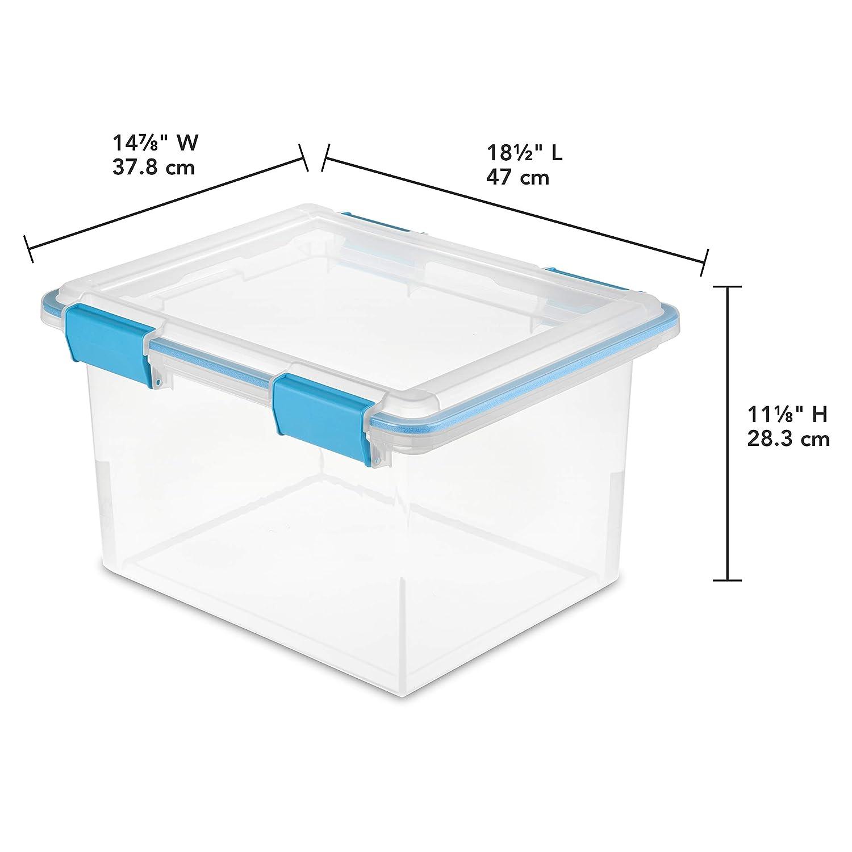Amazon.com: Sterilite, transparente con junta y lengü ...