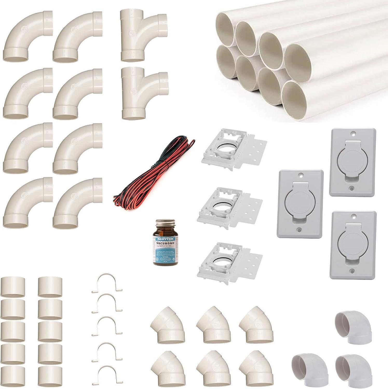 Kit de instalación de aspiradora central para 3 tubos de ...