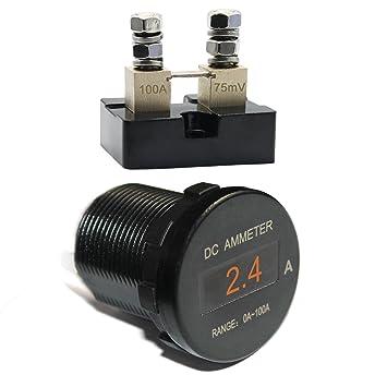 amazon com iztor dc 0 100a mini oled display ampermeter current rh amazon com