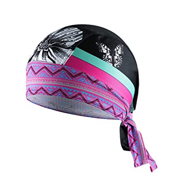 Magenta Cycling Cap Men Breathable Quick Dry Bike Cap Bandana Outdoor Sports Bicycle Riding Pirate Hat Bike Head Scarf Iot Devices