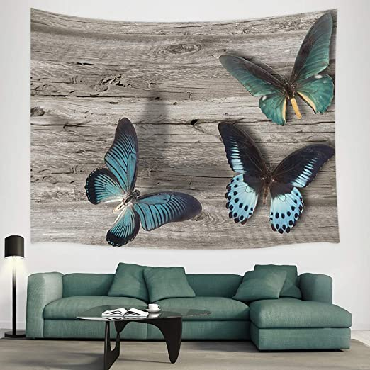 Butterfly Tapestries Wall Hanging Butterflies and Star Tapestries Throw Blanket