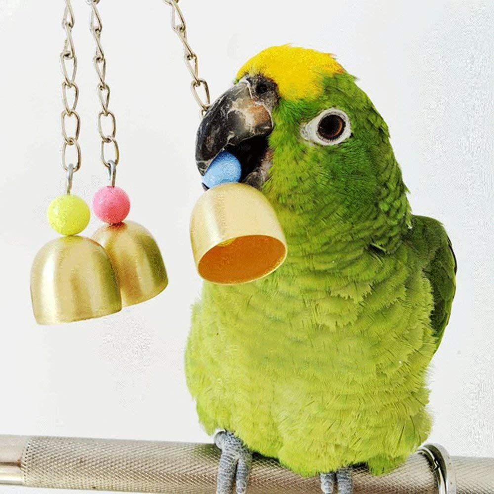 Cydnlive Parred Toys,Parred Bird Bells,Bird Toy Parred Cage Toys,Cages Chew Toy for Parred Bird Cage Toy by (Bird Bell)