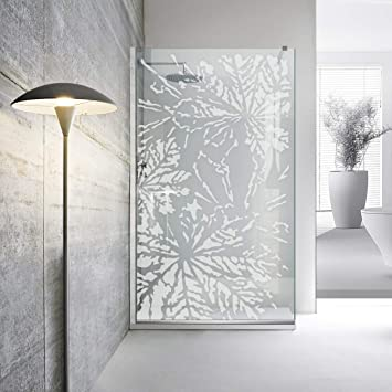 Modern Glass Art Leroy - Mampara de ducha (8 mm, cristal templado ...
