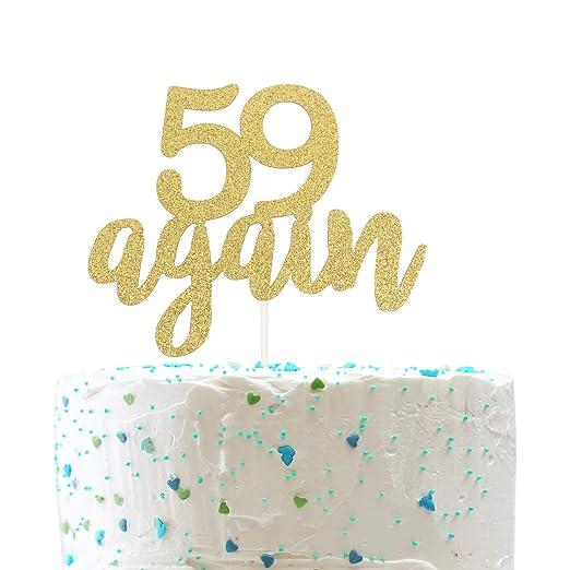 Decoración para tarta 59 de nuevo, cartel de feliz 60 ...