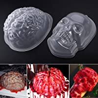 PBPBOX Halloween Puddingform Gehirn Zombie Brain Party Deko - 2 Pack