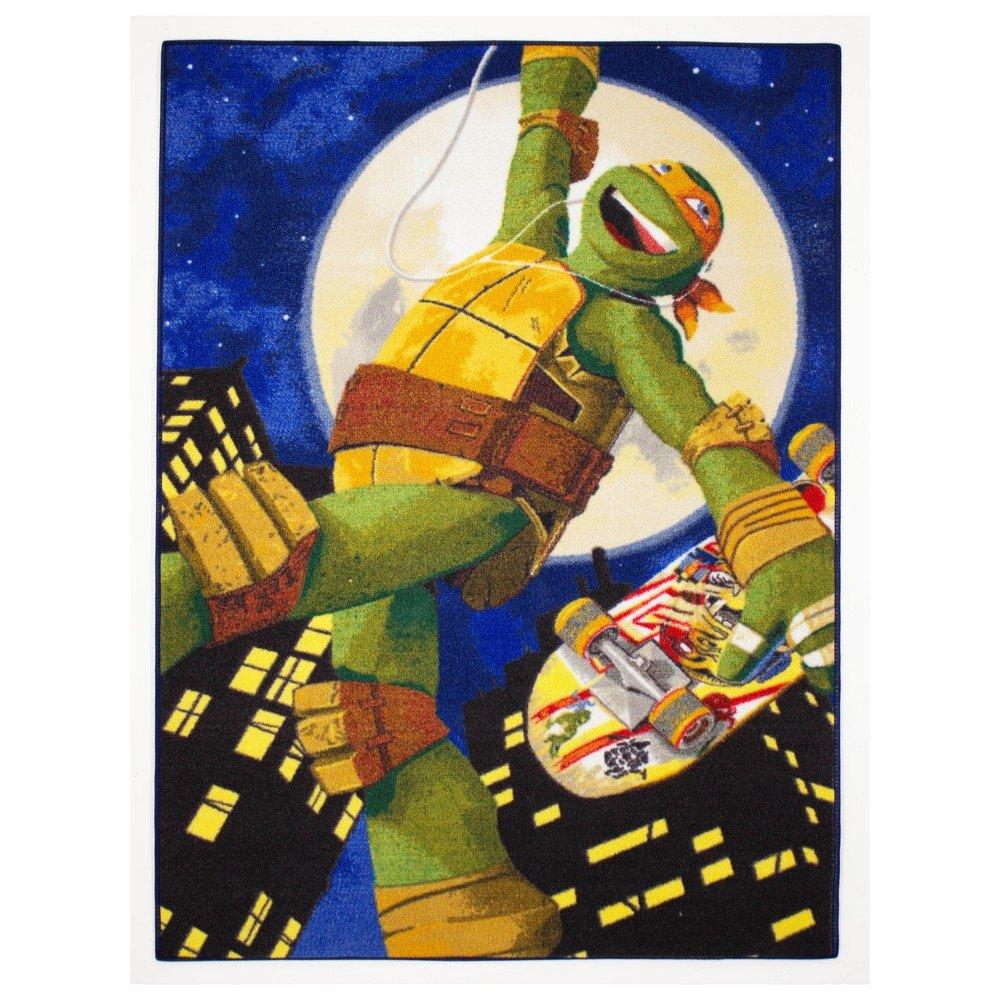 Alfombra niño la Tortugas Ninja 133 x 95 cm Disney Mike ...