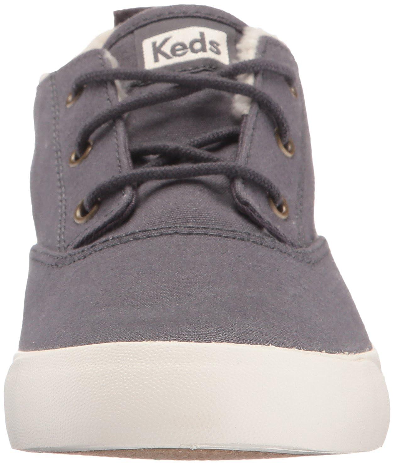 Keds Womens Triumph Mid Canvas Faux Shearling Fashion Sneaker