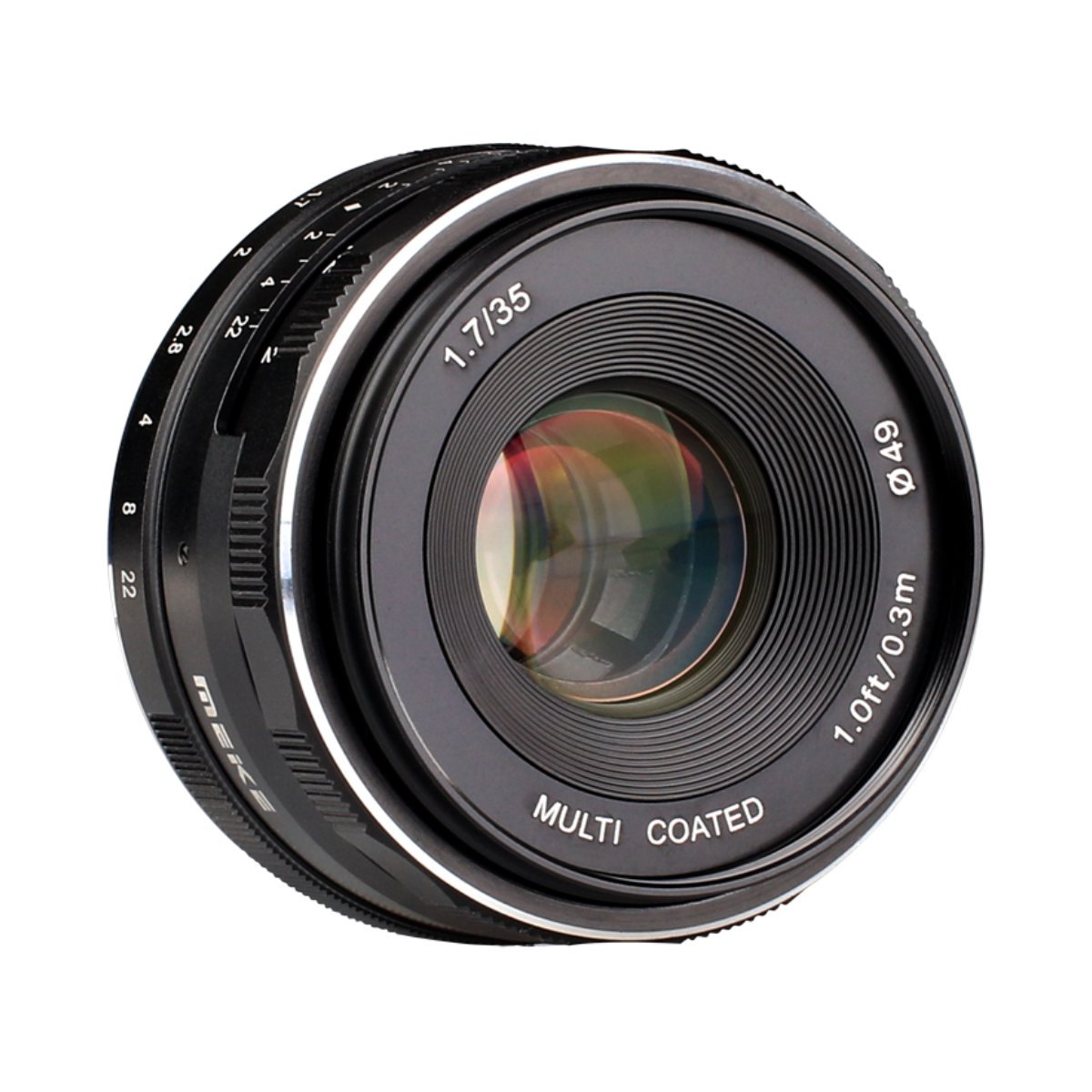 Meike 35mm f/1.7 Manual Focus Fixed Lens for Fujifilm FX Mount Digital Cameras ( X-A1/A2,X-e1/e2/e2s,X-M1,X-T1/T10,X-pro1/pro2 etc) by Meike