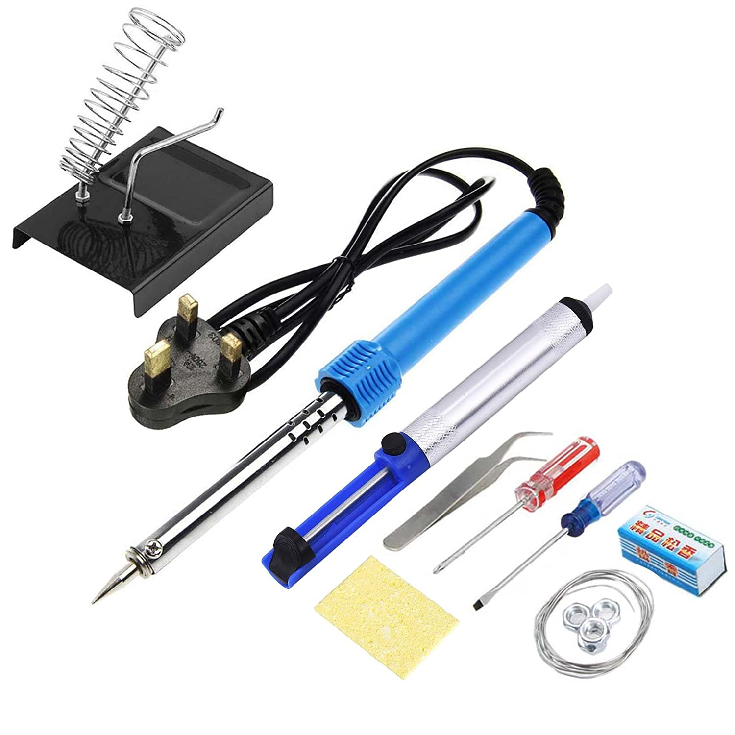 Electric Soldering Kit Solder Soldering Iron 30W /& Stand Base Flux Wire