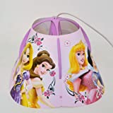 Disney Princess Children's Pendant Ceiling Light Fitting with Lamp Shade