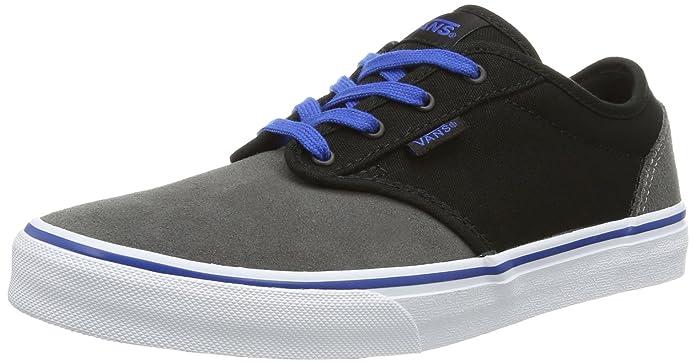 Vans Atwood Unisex-Kinder Sneakers Grow Schwarz Pewter