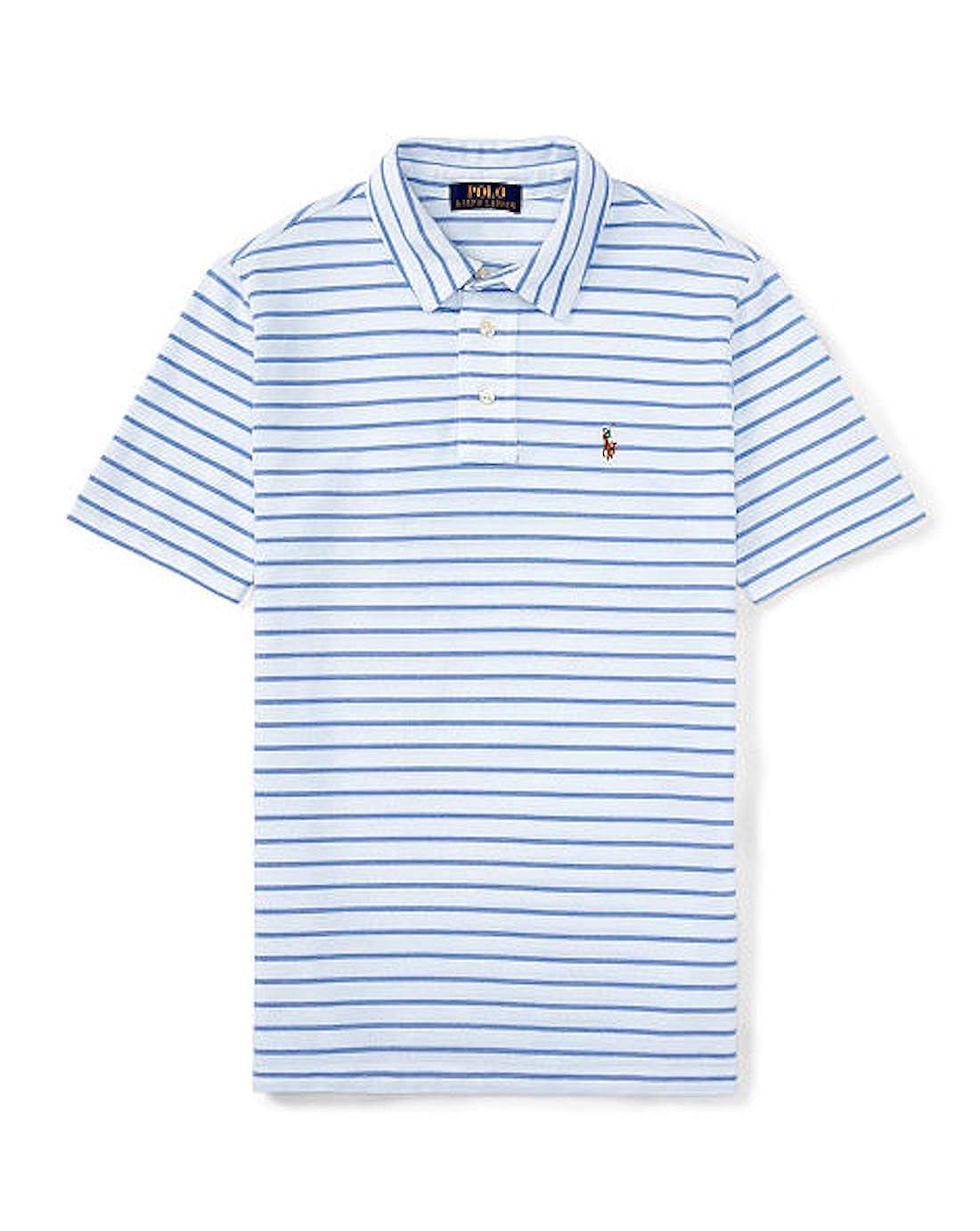 Polo Ralph Lauren Toddler Boy Short Sleeve Striped Polo Shirt White Multi