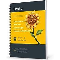 """Schetsboek A3-papier, Ohuhu spiraal kunst schetsboek, 16,5 """"×11,7 """"/420x297mm XL groot papierformaat, kunstboek 200GSM…"""
