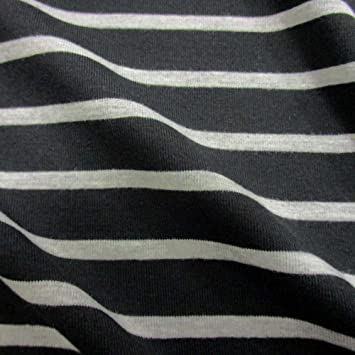 Stoff Meterware Baumwolle Jersey rot weiß Ringeljersey Streifen gestreift Neu