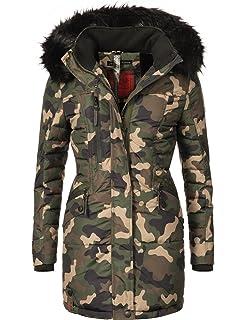 Navahoo Damen Mantel Wintermantel Steppmantel Eliya (vegan hergestellt) 7  Farben + Camouflage XS- d457d81ca2