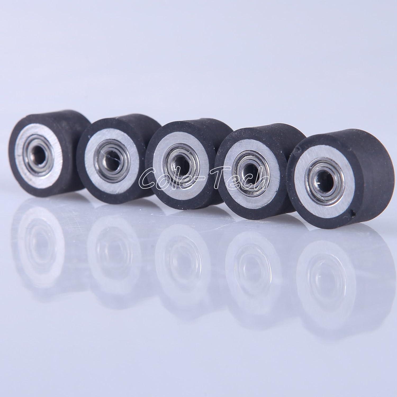 5pcs HQ Pinch Roller for Roland GCC LiYu Rabit Pcut Mimaki Graphtec Iolion Cutter Plotter 4x11x16 COLETECH