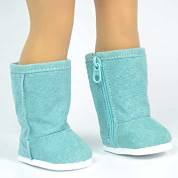 Blue Suede Boots For American Girl Dolls   Includes Free Storage Shoe Box   18 Inch
