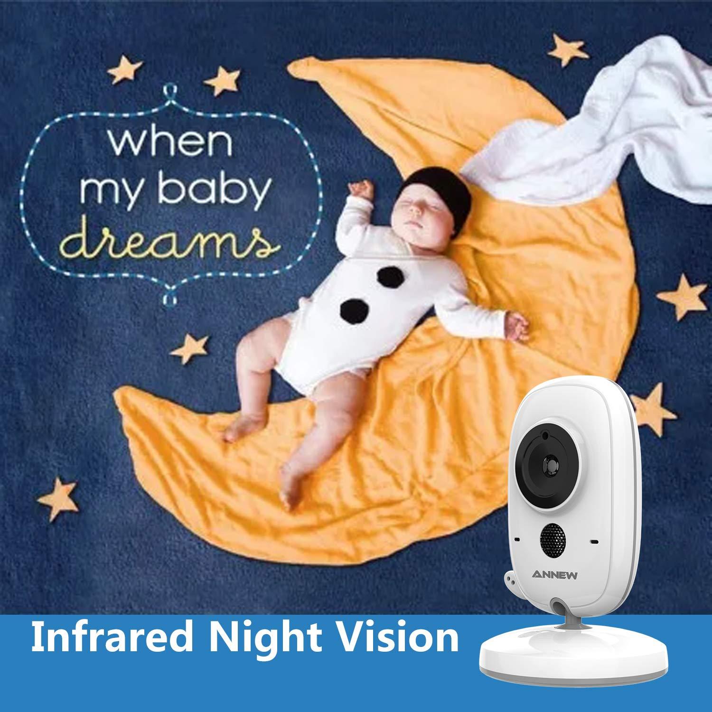 grau-wei/ß MARKBOARD Wireless Baby Monitor,Babyphone mit Kamera,Video Babyphone mit Gegensprechfunktion Digital mit Temperatursensor Schlaflieder VOX Funktion f/ür Baby /Überwachung /…
