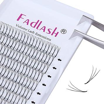 93bd54eb264 Amazon.com : Volume Lash Extensions Premade Fans 3D/5D C/D Curl 0.10mm Individual  Eyelashes Natural Rapid Cluster Lashes by FADLASH (3D-0.10-C, ...