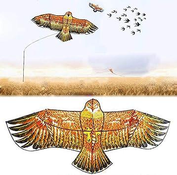 Amazon.com: WHHJW – Espantapájaros, cometa de halcón volador ...