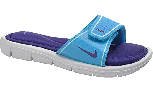 Nike Women's Comfort Slide Vivid Blue/Purple Glacier Sandals ...