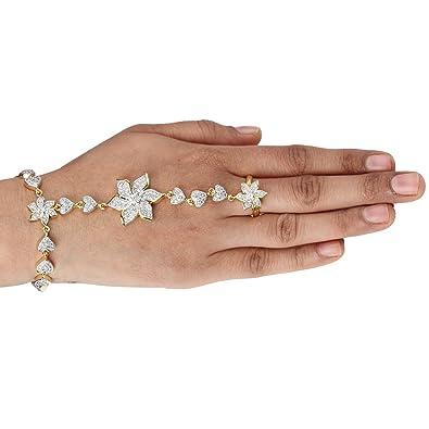 Buy Swasti Jewels American Diamond CZ Jewellery Bracelet with Ring