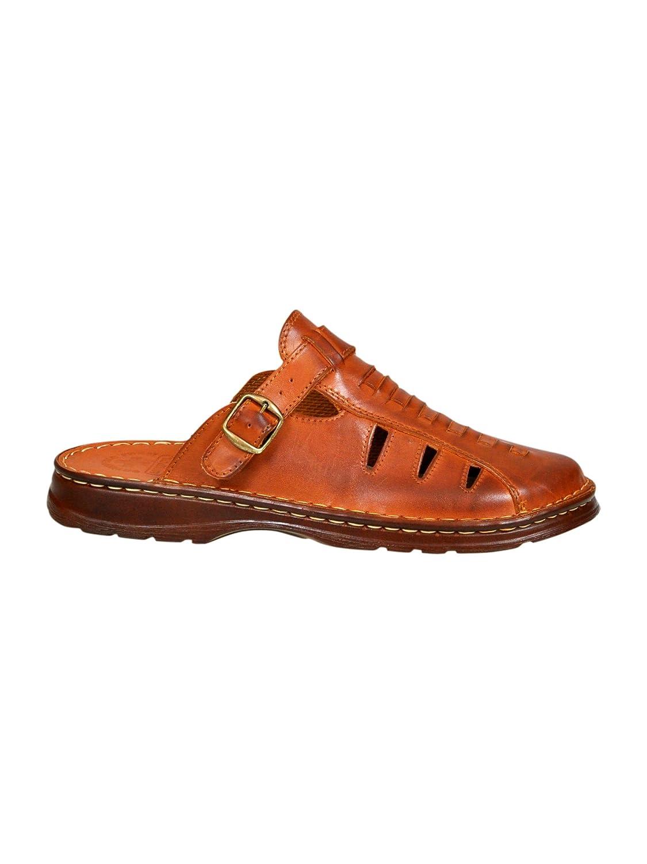 Sandales De Type Mule pour Homme en Cuir Reel De Bison De Forme Orthopedique Chaussures Confortables Modele 801/2