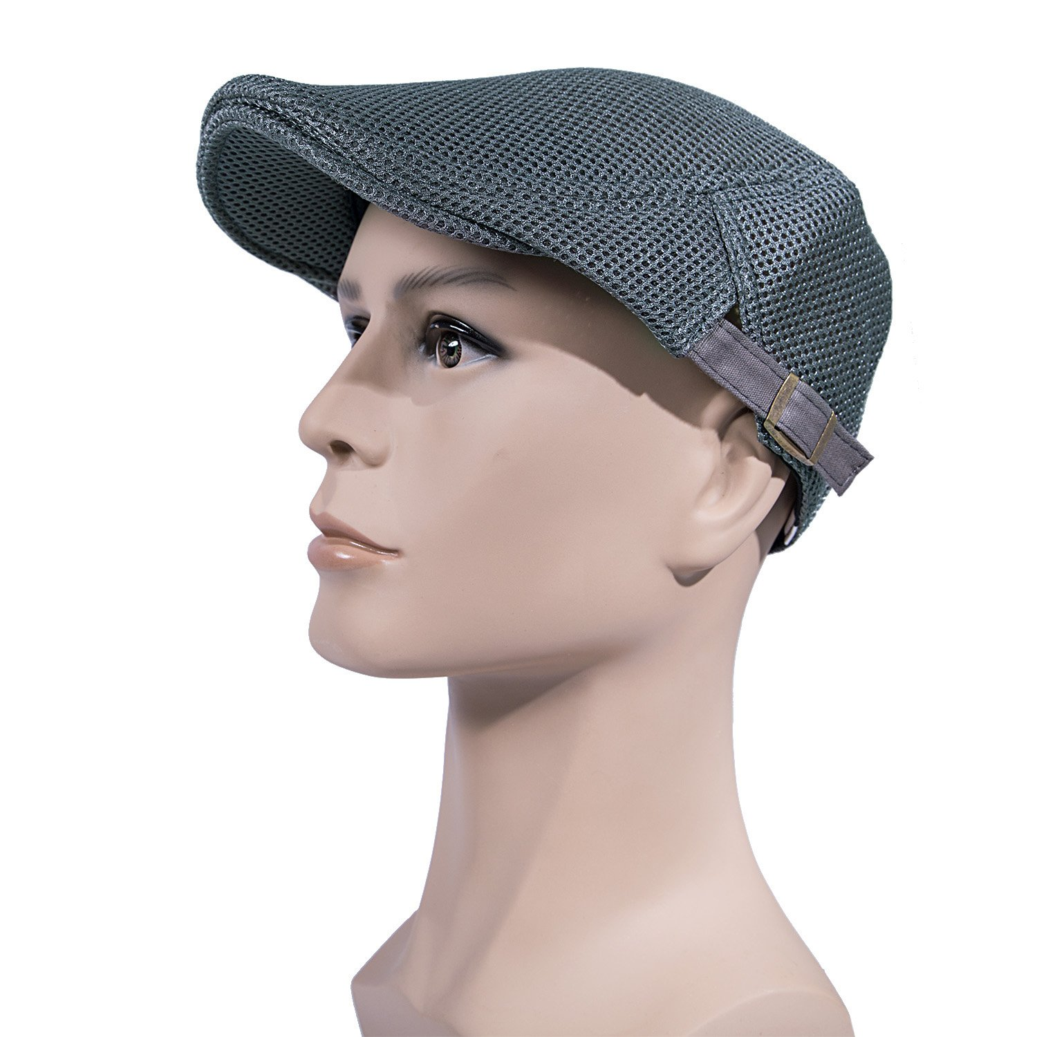7450d271869 Men Breathable mesh Summer hat Newsboy Beret Ivy Cap Cabbie Flat Cap ...