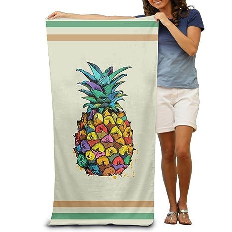 Toallas de baño coloridas de piña para playa, toallas de piscina, para adultos,