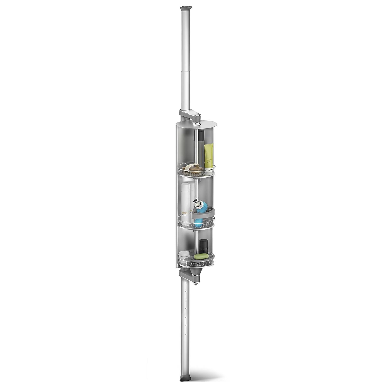 amazon com simplehuman spin cabinet shower caddy anodized amazon com simplehuman spin cabinet shower caddy anodized aluminum home kitchen