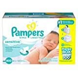 Amazon Price History for:Pampers Sensitive Baby Wipes (800 ct.)