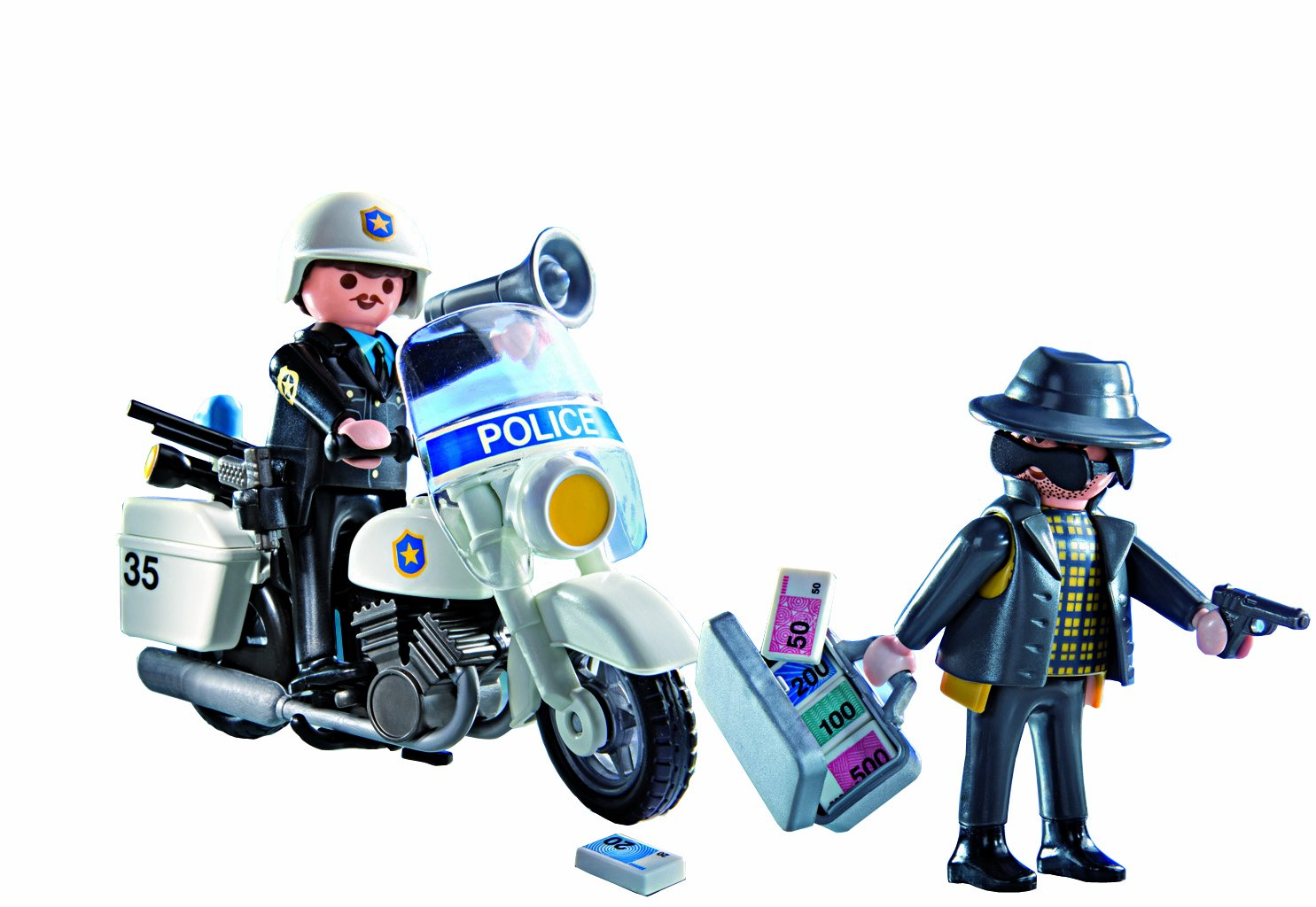 playmobil police carrying case figures amazon canada - Playmobil Policier