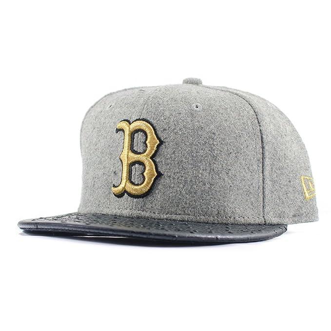 A NEW ERA Era 59FIFTY  Melton Ostrich Wool  Boston Red Sox - Color Grey 77a206ac048