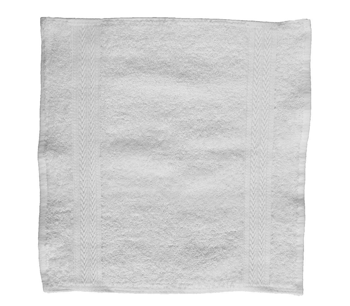 Washcloths –13x13 Inches, White, 12 Pack, 100% Cotton, Heavy Duty, Durable, Excellent Craftsmanship, Highly Absorbent, 1.6 lbs per dozen, Multipurpose, Fingertip Towel – by Pacific Linens (12)