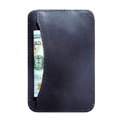 Front Pocket Men's Wallet - Slim Wallet - Minimalist Leather Card Holder with RFID Protection for Men - Card Case Holds Cards & Cash - Nvious Living