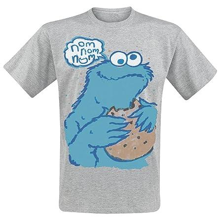 Sesamstrasse T-Shirt Nom Nom Cookie Monster Krümelmonster Größe S ... aac6b9bb9f