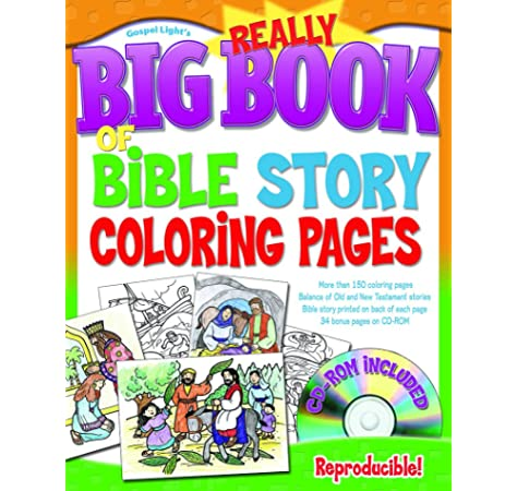 - The Really Big Book Of Bible Story Coloring Pages (with CD-ROM) (Big Books):  Gospel Light: 9780830743872: Amazon.com: Books
